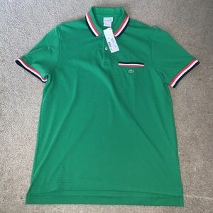Lacoste Slim Fit Size 5 Men's green polo NWT